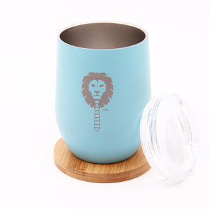 Wood Leon 12oz tumbler insulated mug w/out handle