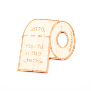 Wood Stickers- Tax Free, TP Free, Corona Memorabilia