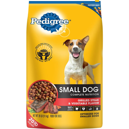 Pedigree Small Dog Targeted Nutrition Dog Food, Steak & Vegetable (20 lbs.)