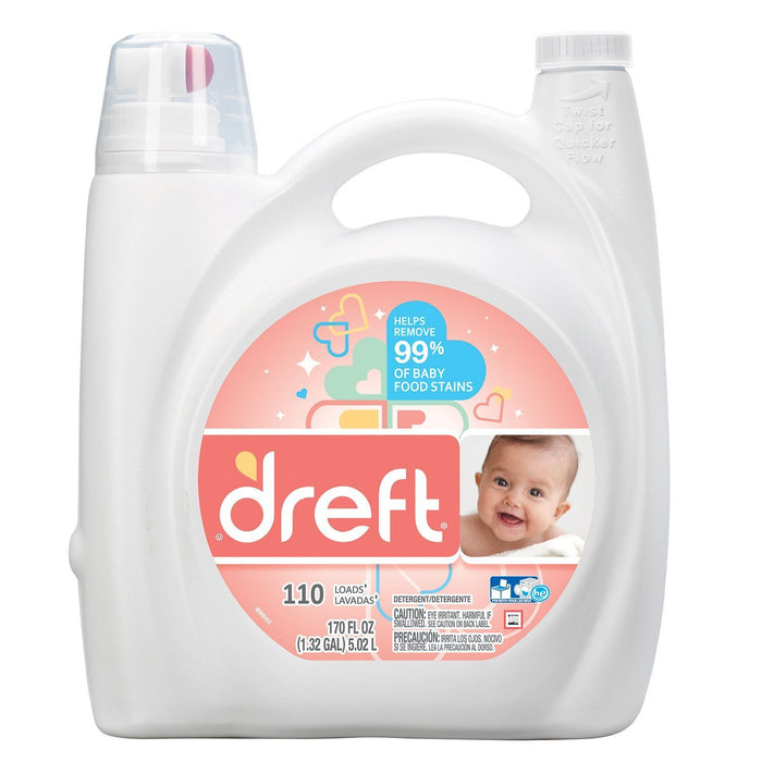 Dreft HE Liquid Laundry Detergent (170 oz., 110 loads) - EZneeds
