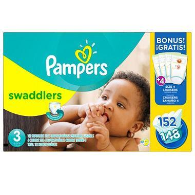 Pampers Swaddlers Diapers (Size 3, 16-28 lbs., 152 ct.)