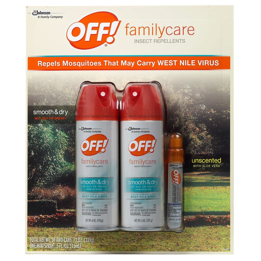 OFF! Smooth & Dry 6 oz. 2 Pack + 0.5 oz. Mini