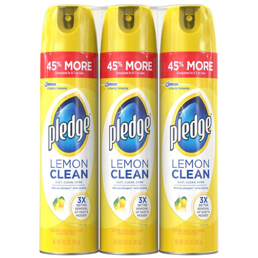 Pledge Spray, Lemon Scent (14.2 oz., 3 pk.)