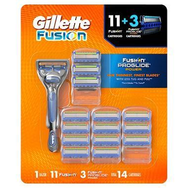 Gillette Fusion (Manual Razor Handle + 14 Cartridges)