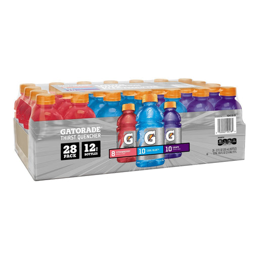 Gatorade Berry Variety Pack, Strawberry/Cool Blue/Grape (12 oz., 28 ct.)