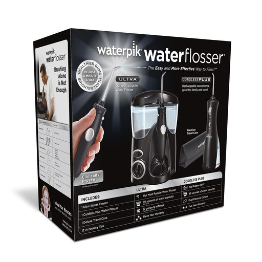 Waterpik Ultra Water Flosser Combo, Black - Model WP-112/WP-462