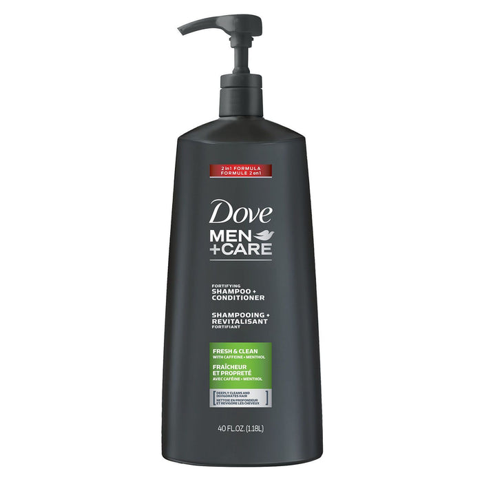 Dove Shampoo + Conditioner Men Care 2-in-1, Fresh Clean (40 fl. oz.) - EZneeds