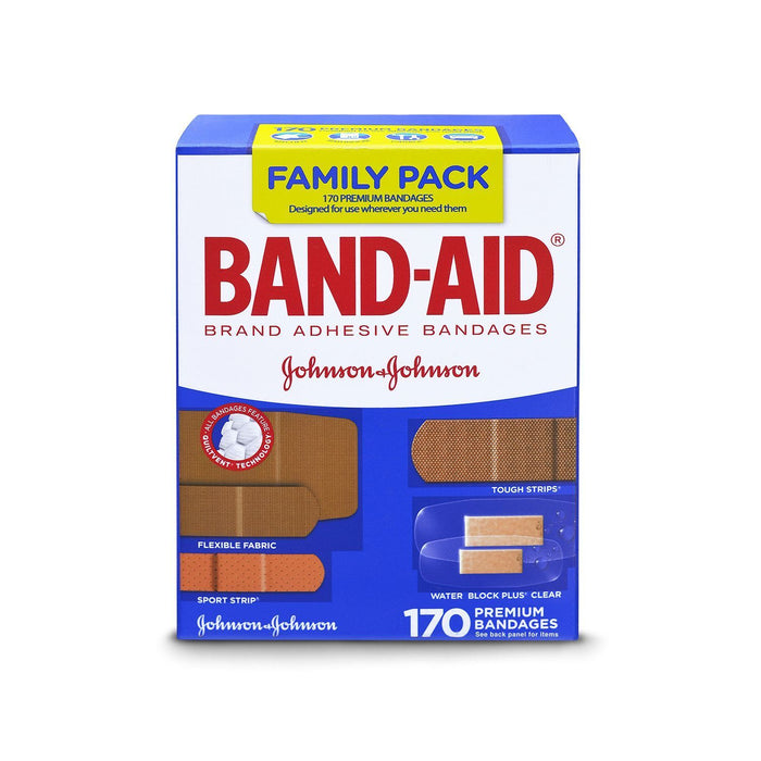 Band-Aid Brand Adhesive Bandages, Family Pack (170 ct.) - EZneeds