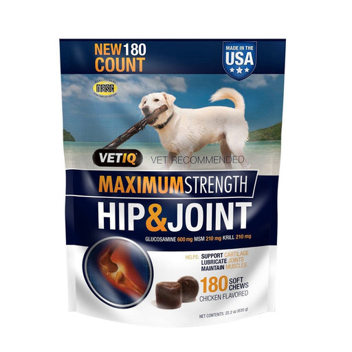 VetIQ Hip & Joint Chews for Dogs (180 ct.)