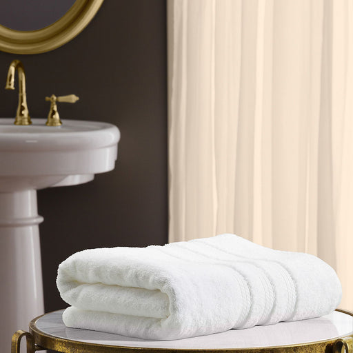 "Hotel Premier Collection 100% Cotton Luxury Bath Towel, White (30"" x 58"")"