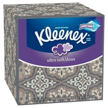 Kleenex Ultra Soft Facial Tissues (75 tissues)