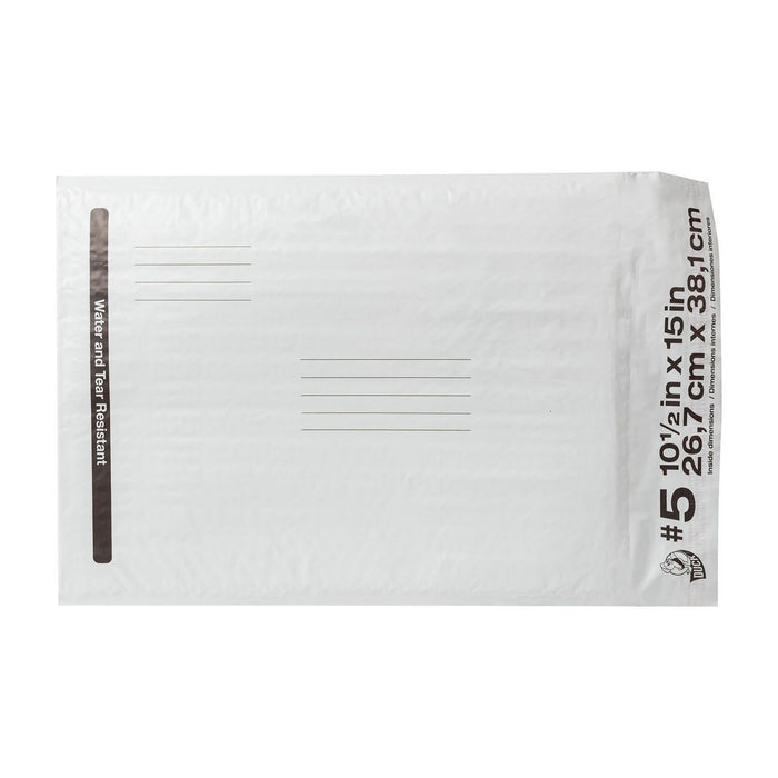"Duck Brand #5 Poly Bubble Mailer, White (10.5"" x 15"", 25 pk.) - EZneeds"