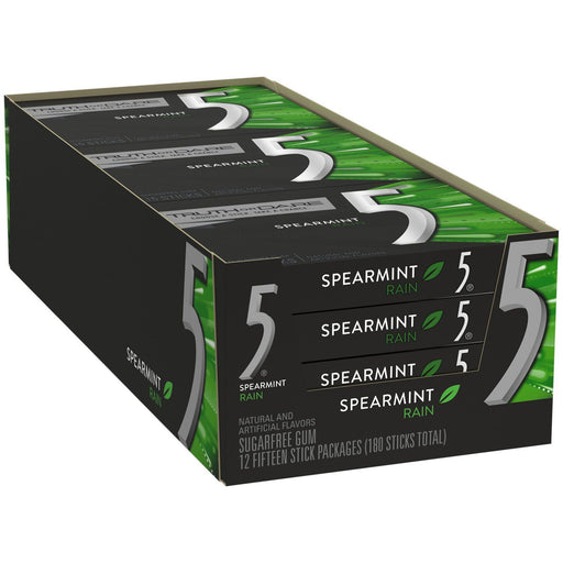 5 Gum Rain Spearmint (15 sticks, 12 pk.) - EZneeds