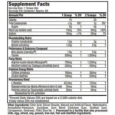 MuscleTech VaporX5 Next Gen Pre-Workout Icy Rocket Freeze (60 servings)