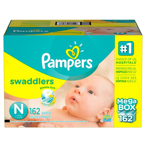 Pampers Swaddlers Diapers (Newborn, <10 lbs., 162 ct.)