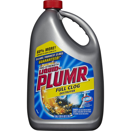 Liquid-Plumr Full Clog Destroyer, Pro-Strength (128 oz.)