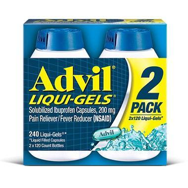 Advil Liqui-Gels (120 ct., 2pk.) - EZneeds