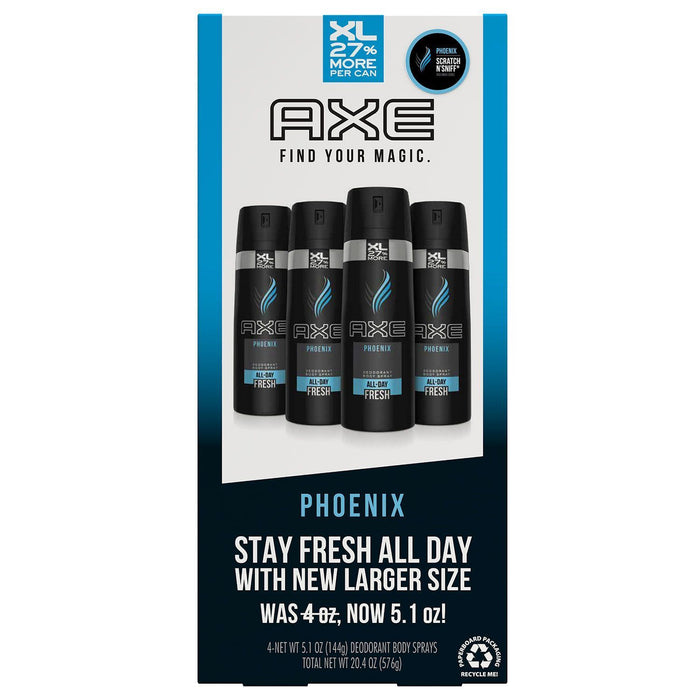 AXE XL Deodorant Body Spray, Phoenix (5.1 oz., 4 pk.) - EZneeds