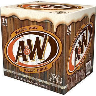 A&W Root Beer (12 oz. cans, 24 pk.) - EZneeds