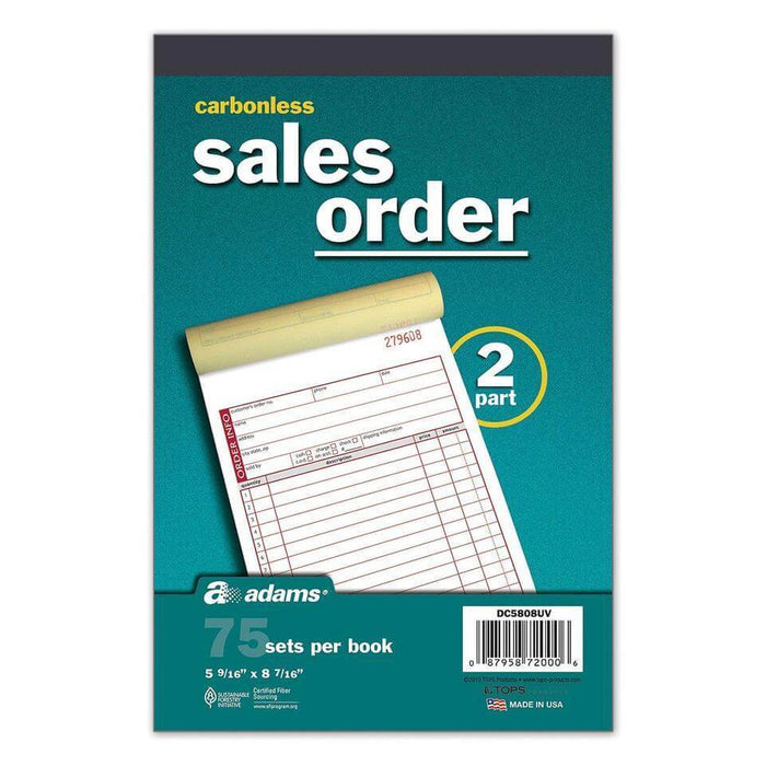 Adams Carbonless Sales Order Book (75 Sets, 5 Pk.) - EZneeds
