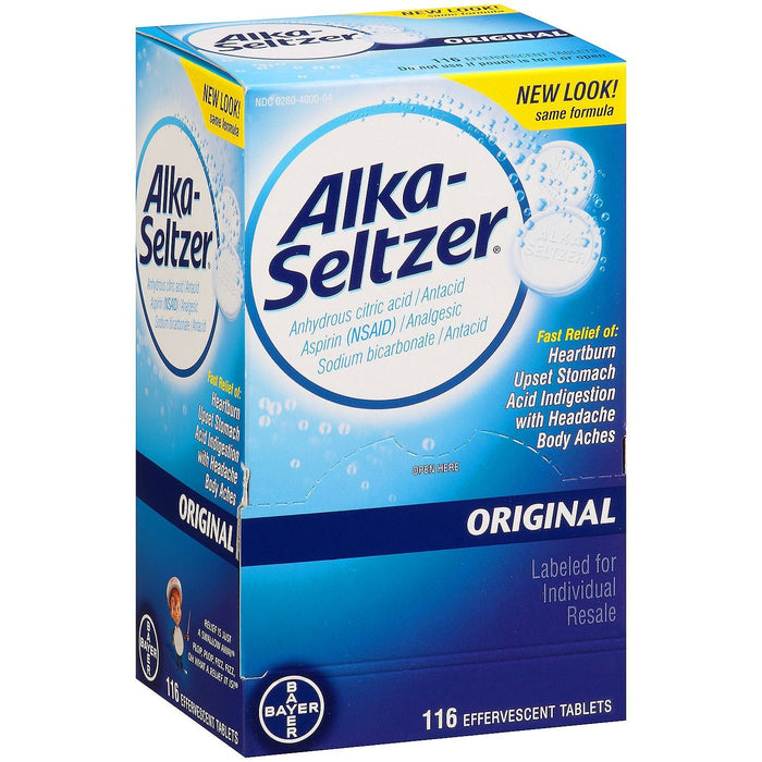 Alka-Seltzer Original Antacid and Analgesic (116 ct.) - EZneeds