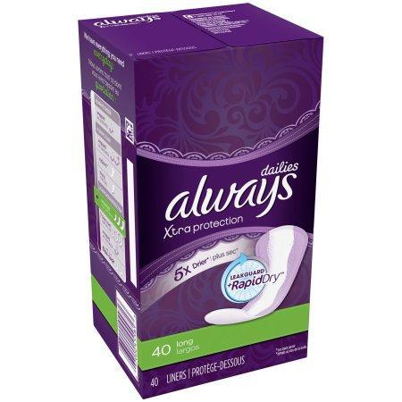 Always Xtra Protection Daily Liners, Long (40 ct.) - EZneeds