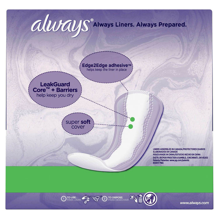 Always Xtra Protection Daily Liners, Long with Purse Pouch (160 ct.)