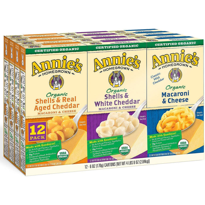 Annie's Organic Mac and Cheese Variety Pack (6 oz. box, 12 ct.) - EZneeds