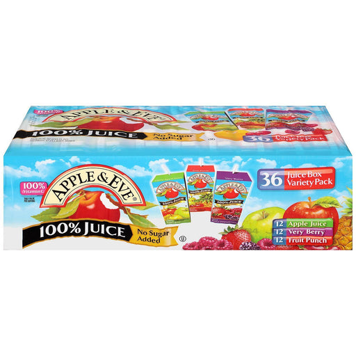 Apple & Eve Juice, Variety Pack (6.75 oz. box, 36 ct.) - EZneeds