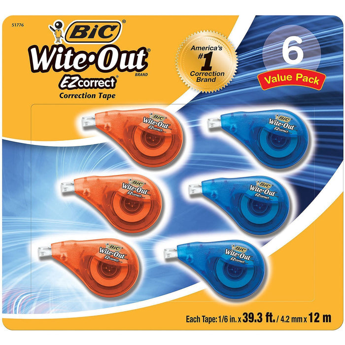 BIC Wite-Out EZ Correction Tape (6 pk.) - EZneeds