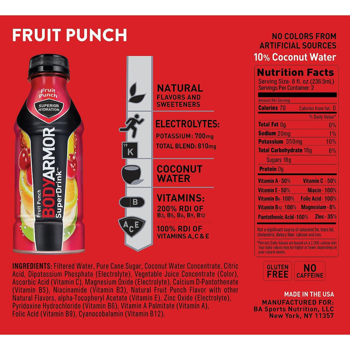 Bodyarmor Sports Drinks Variety Pack 16 Fl Oz 20 Ct Ezneeds