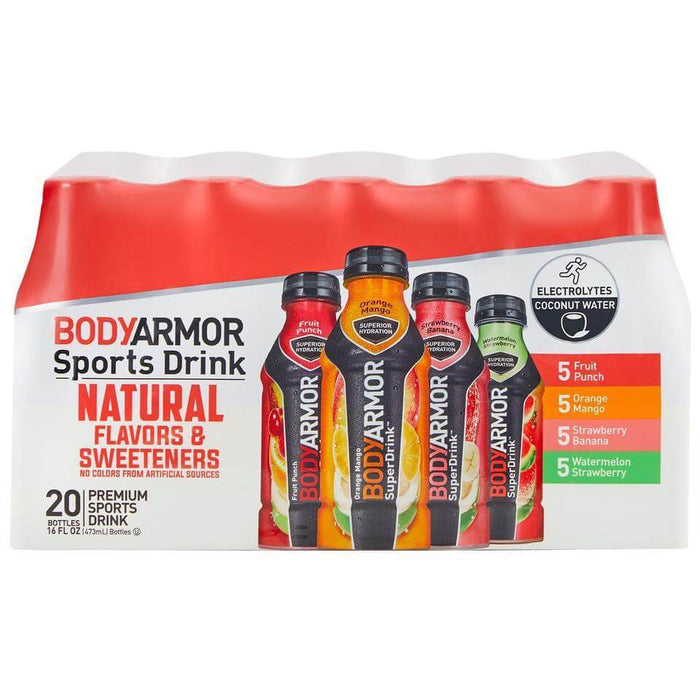 BODYARMOR Sports Drinks Variety Pack (16 fl. oz., 20 ct.) - EZneeds