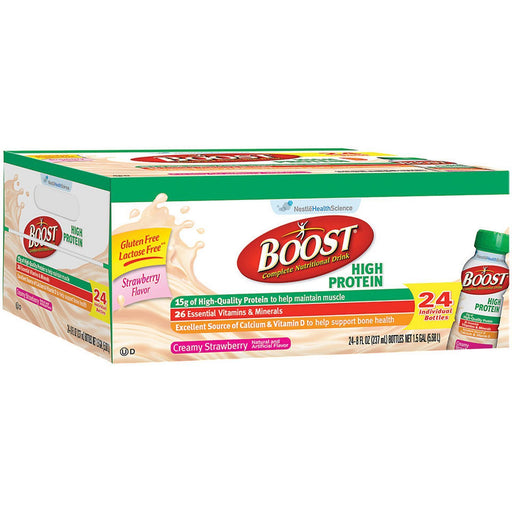 BOOST High Protein Drink, Strawberry (8 fl. oz., 24 pk.) - EZneeds