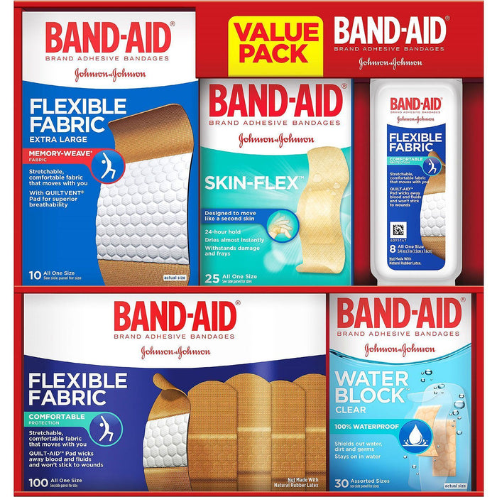 Band-Aid Brand Adhesive Bandages, Family Pack (173 ct.) - EZneeds