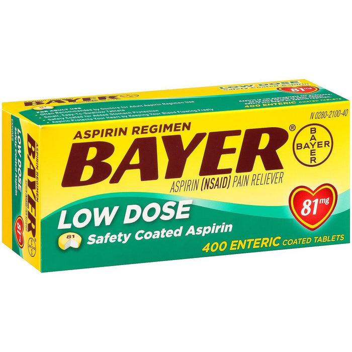 Bayer Low Dose Aspirin, 81 mg (400 ct.) - EZneeds
