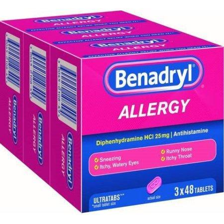Benadryl Allergy Ultra Tabs (48 ct., 3 pk.) - EZneeds