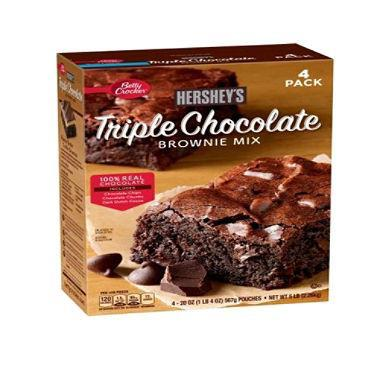 Betty Crocker's Hershey's Triple Chocolate Brownie Mix (20 oz. ea., 4 pk.) - EZneeds