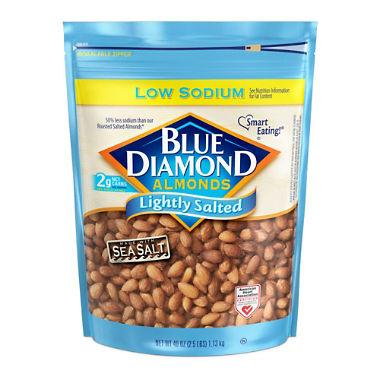 Blue Diamond Lightly Salted Whole Almonds (40 oz.) - EZneeds