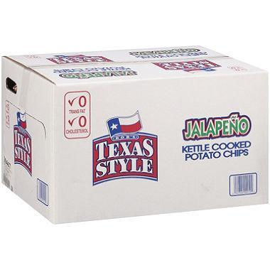 Bob's Texas Style Jalapeño Kettle Cooked Potato Chips (1 oz., 72 ct.) - EZneeds