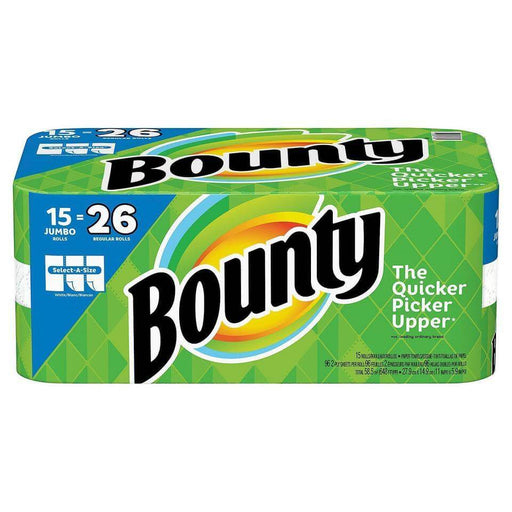 Bounty Select-A-Size Paper Towels (15 Jumbo Rolls) - EZneeds