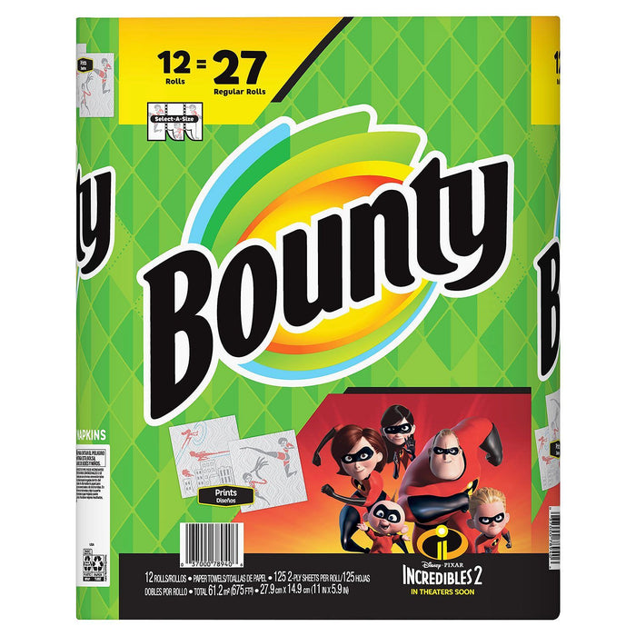 Bounty Select-A-Size Print, Incredibles (125 ct.) - EZneeds
