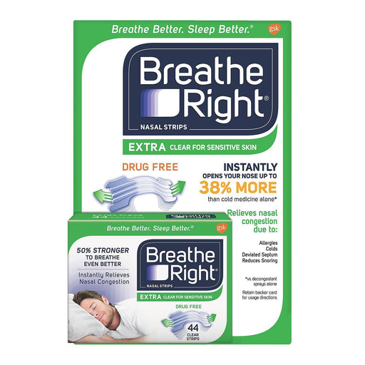 Breathe Right Extra Strength Nasal Strips, Clear (72 Ct.) - EZneeds