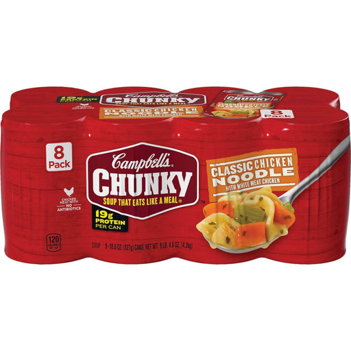 Campbell's Chunky Classic Chicken Noodle Soup (18.6 oz., 8 pk.) - EZneeds