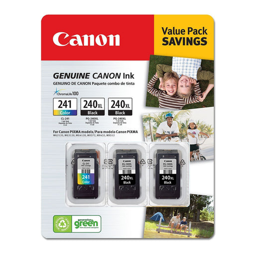 Canon PG-240XL/CL-241 Ink Tank Cartridge (Black/Tri-Color, 3 pk.) - EZneeds