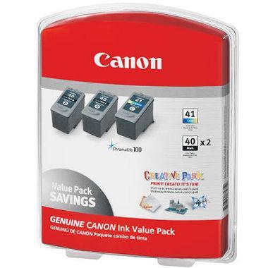Canon PG-40/CL-41 Ink Tank Cartridge (2 Black, 1 Tri-Color) - EZneeds