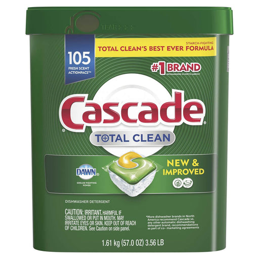 Cascade Total Clean ActionPacs, Dishwasher Detergent, Fresh Scent (105 ct.)