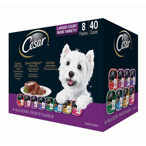 Cesar Canine Cuisine Wet Dog Food, Variety Pack (3.5 oz., 40 ct.) - EZneeds