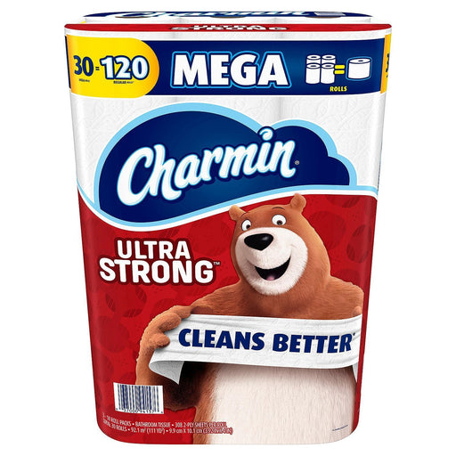 Charmin Ultra Strong Toilet Paper (308 2-ply sheets, 30 Mega Rolls) - EZneeds