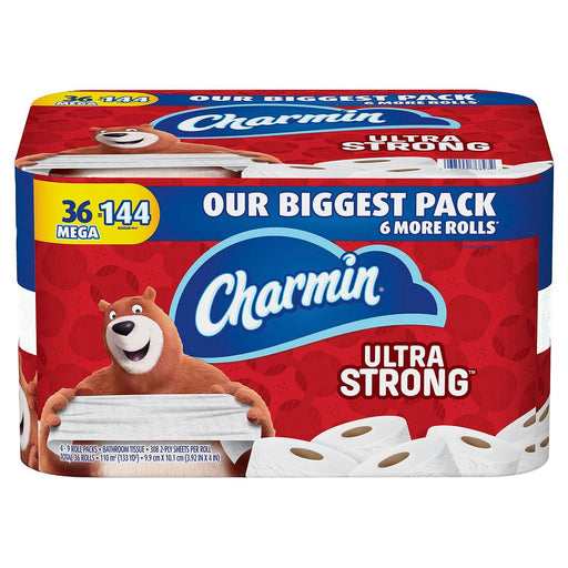 Charmin Ultra Strong Toilet Paper, 308 Sheets per Roll (36 Mega Rolls) - EZneeds