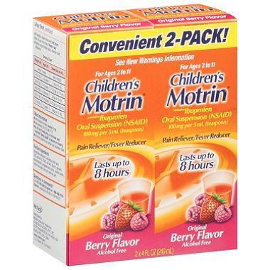 Motrin Children's, Original Berry Flavor (4 oz., 2 pk.)